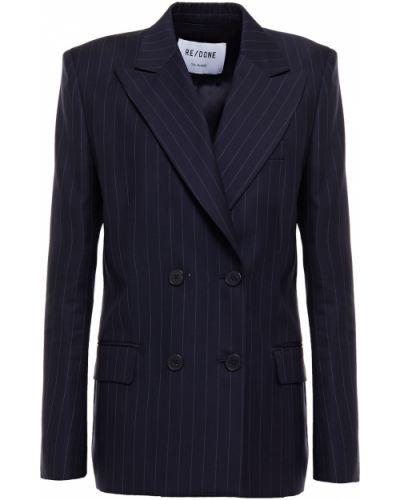 Шерстяной пиджак двубортный с подкладкой Re/done