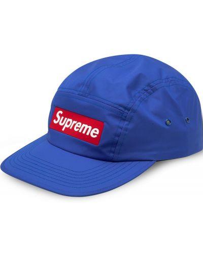 Niebieski bawełna bawełna czapka z daszkiem z łatami Supreme