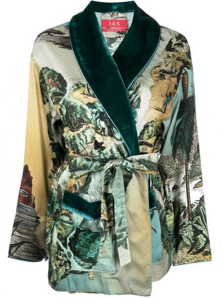 Шелковый халат - зеленый F.r.s. For Restless Sleepers