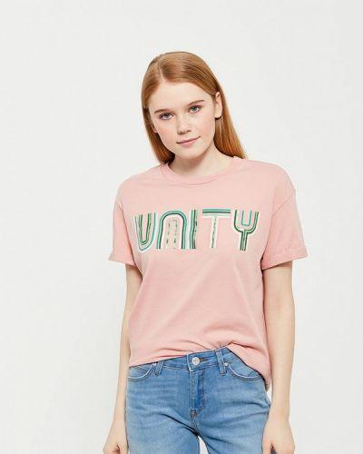 Розовая футболка Lee