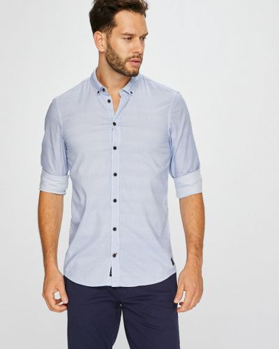 Рубашка с длинным рукавом хлопковая на пуговицах Blend
