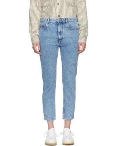 Niebieski jeansy do kostek z kieszeniami Isabel Marant Etoile
