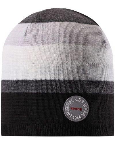 Вязаная шапка белая черная Reima