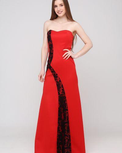 Платье свободного кроя - красное Niktan