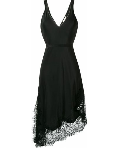 Платье с поясом с открытой спиной с V-образным вырезом Gold Hawk