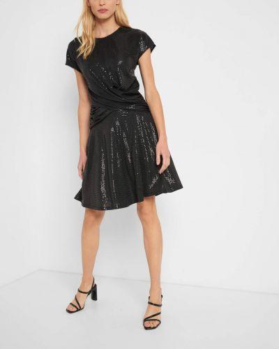 Czarna spódnica rozkloszowana z cekinami Orsay