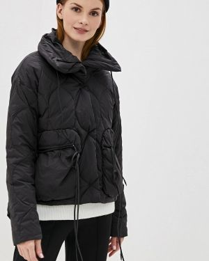 Зимняя куртка черная осенняя Hassfashion