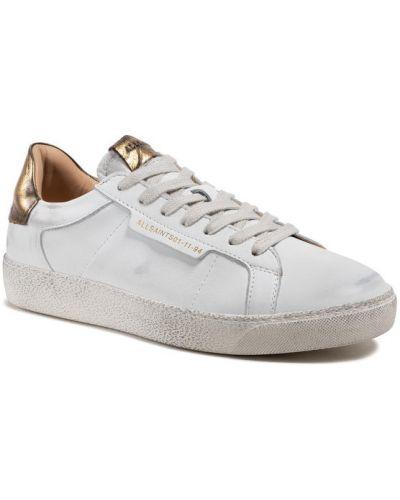 Białe sneakersy Allsaints
