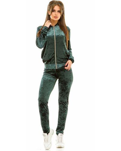 Спортивный костюм бархатный зеленый Lacywear