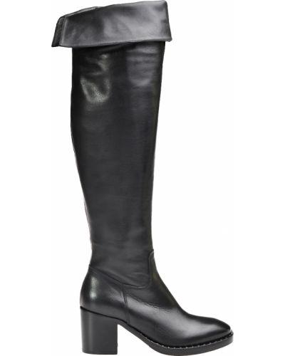 Черные кожаные ботфорты Laura Bellariva