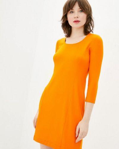 Оранжевое прямое платье А-силуэта Promin