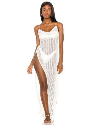 Белое текстильное платье макси Michael Costello