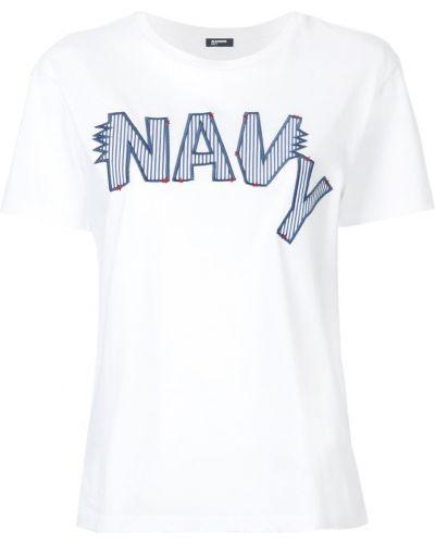 Футболка белая с вышивкой Jil Sander Navy
