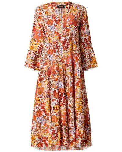 Sukienka midi z falbanami - pomarańczowa Miss Goodlife