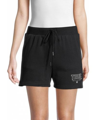 Хлопковые черные шорты для плаванья с карманами True Religion