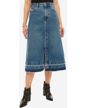 Джинсовая юбка с карманами Diesel