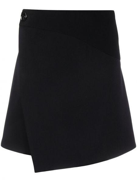 Wełniany asymetryczny czarny spódnica Givenchy