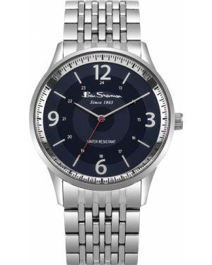 Часы водонепроницаемые синий серебряный Ben Sherman