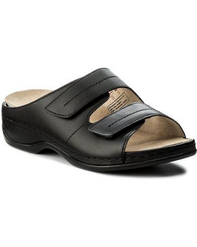 Czarne sandały skorzane Berkemann