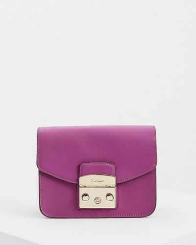Фиолетовая сумка через плечо Furla