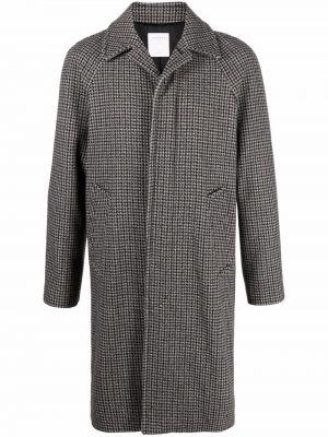 Czarny płaszcz bawełniany Sandro Paris