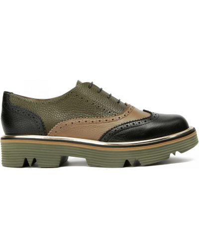 Кожаные туфли закрытые круглые Pollini