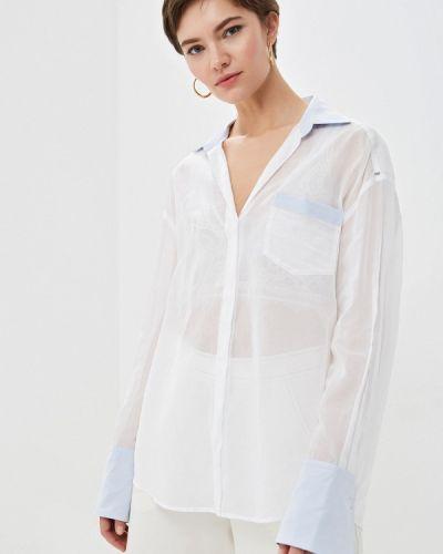 Блузка с длинным рукавом белая весенний Sportmax Code