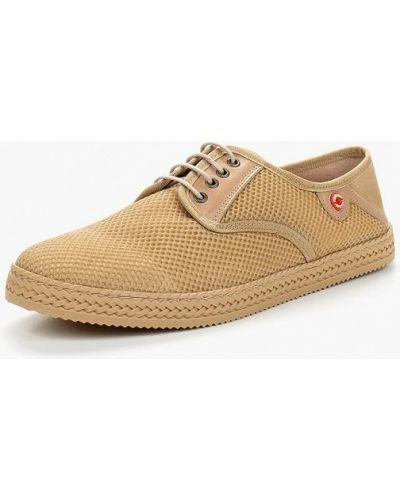 Бежевые туфли замшевые Nobrand