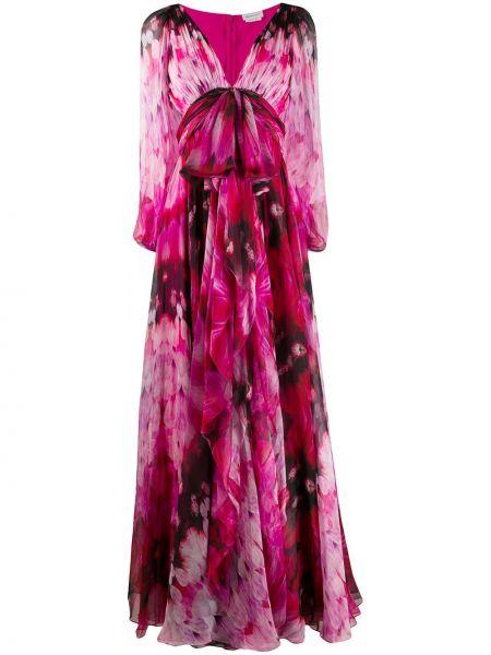Платье с V-образным вырезом на молнии Alexander Mcqueen