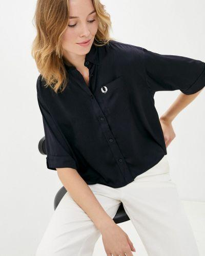 Синяя блузка с короткими рукавами Fred Perry