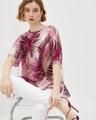 Розовая блузка с короткими рукавами Trussardi