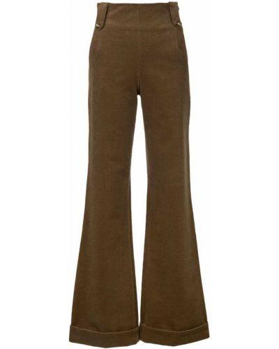 Коричневые брюки расклешенные N Duo