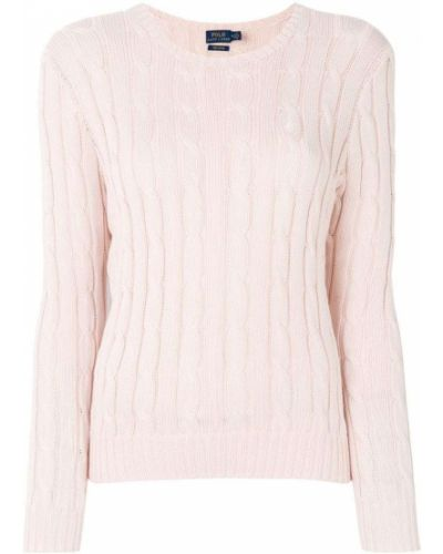 Вязаный свитер в рубчик с косами Polo Ralph Lauren