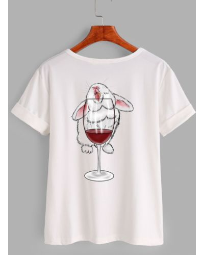 Хлопковая классическая футболка с круглым вырезом с надписью Love&live