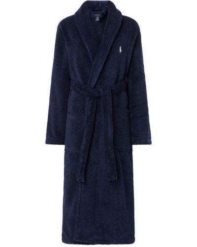 Niebieski szlafrok bawełniany Polo Ralph Lauren Underwear