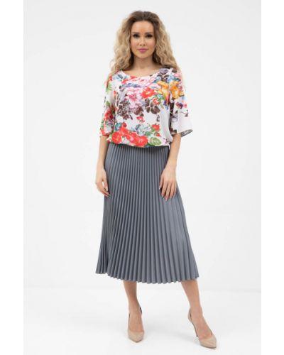 Плиссированная юбка - серая Wisell