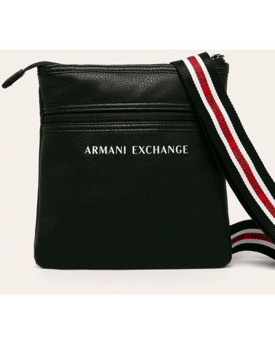 Кожаная сумка универсальный черная Armani Exchange