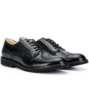 Buty brogsy skórzany czarny Montelpare Tradition