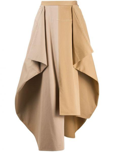 Spódnica asymetryczny z draperią Loewe
