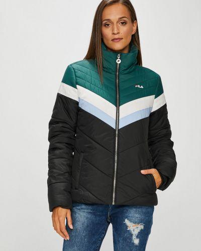 Утепленная куртка с карманами черная Fila