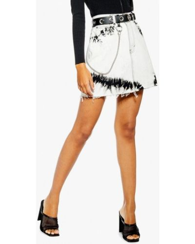 Джинсовая юбка белая весенняя Topshop