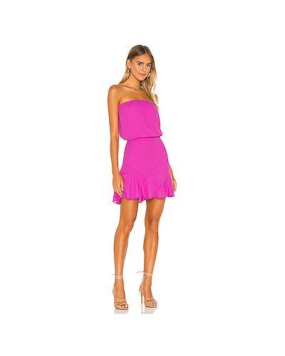Розовое платье с декольте на молнии на резинке Krisa