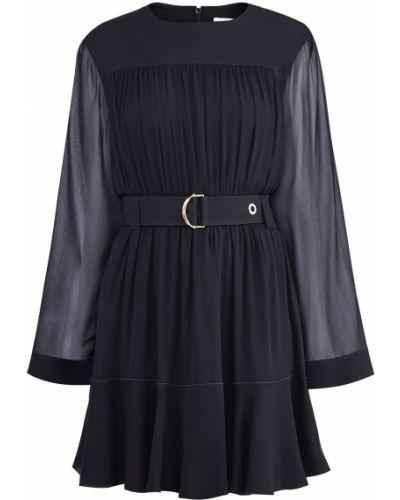 Платье мини с поясом приталенное Chloe