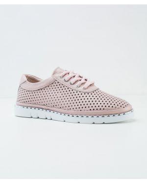 Кожаные розовые кожаные туфли Vensi