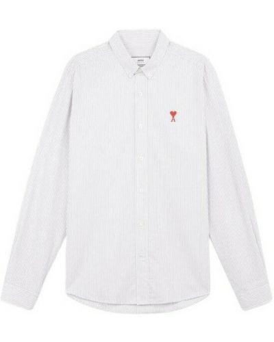 Biała koszula w paski w paski Ami Paris
