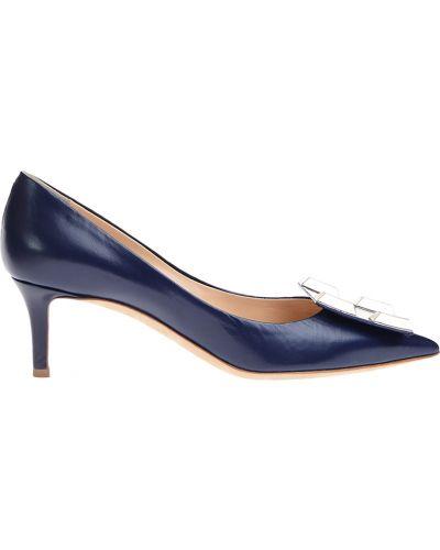 Кожаные туфли - синие Ballin
