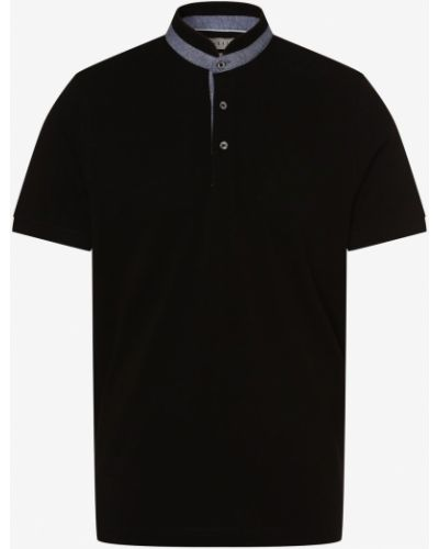 T-shirt ze stójką - czarna Bugatti