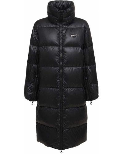 Czarny płaszcz puchowy Duvetica