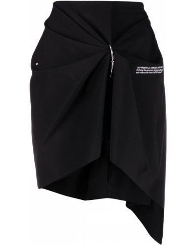 Czarna spódnica z falbanami z wysokim stanem Off-white