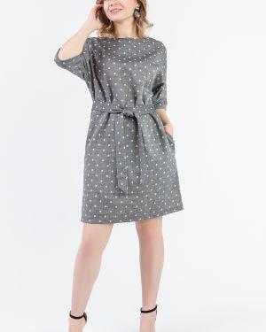 Платье с поясом в горошек через плечо Lacywear